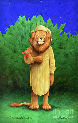 Painting - The Lion Sleeps Tonight... by Will Bullas