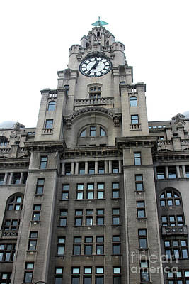 Photograph - The Liver Building, With A Closeup Of One Of The Liver Birds. by Doc Braham