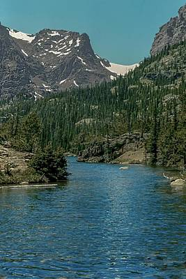 Photograph - The Loch Taylor Peak Andrews Glacier Rocky  Mountain National Park by NaturesPix