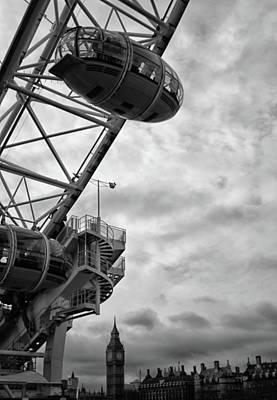 London Eye Photograph - The London Eye by Martin Newman