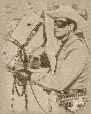 Fantasy Drawings - The Lone Ranger by John Springfield