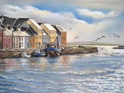 Pastel - The Long Walk Galway by Vanda Luddy