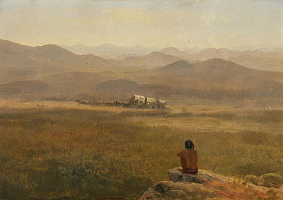 American Painters Painting - The Lookout by Albert Bierstadt