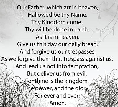 Digital Art - The Lord's Prayer by Trilby Cole