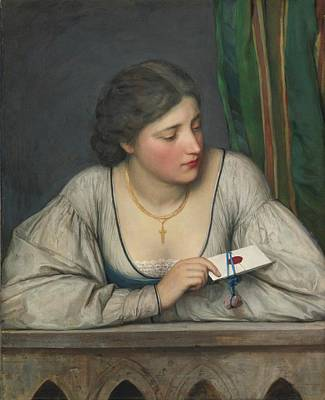 Eugen Von Blaas Painting - The Love Letter by MotionAge Designs