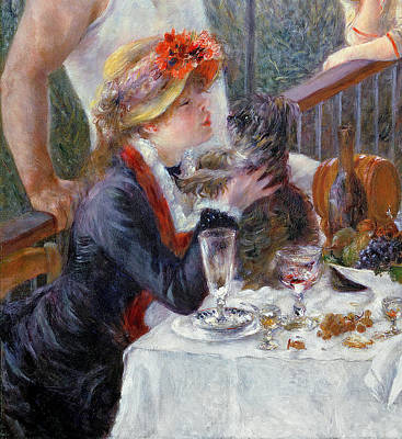 Meal Painting - The Luncheon Of The Boating Party by Pierre Auguste Renoir