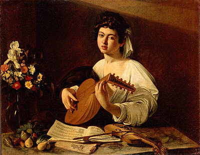 The Lute Player Painting - The Lute-player by Caravaggio