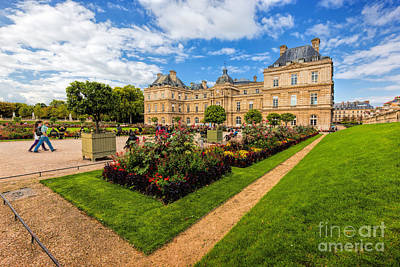 Photograph - The Luxembourg Palace In Luxembourg Gardens In Paris, France by Michal Bednarek