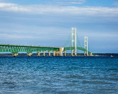 Photograph - The Mackinac Bridge Aka The Big Mac by Jack R Perry
