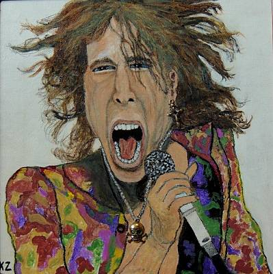 Painting - The Madman Of Rock.steven Tyler. by Ken Zabel