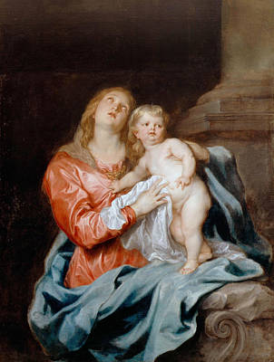 Child Jesus Painting - The Madonna And Child by Anthony van Dyck