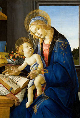 Child Jesus Painting - The Madonna Of The Book by Sandro Botticelli