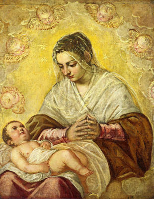 Madonna Painting - The Madonna Of The Stars by Tintoretto