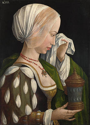Historical Painting - The Magdalen Weeping by Workshop of Master of the Magdalen Legend