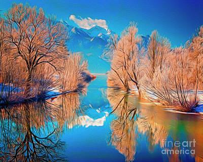 Digital Art - The Magic Of Winter by Edmund Nagele