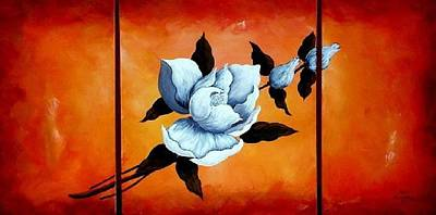 24x48 Painting - The Magnolia by Bertha Hamilton