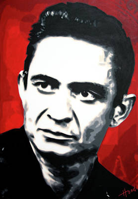 Painting - The Man In Black by Hood alias Ludzska