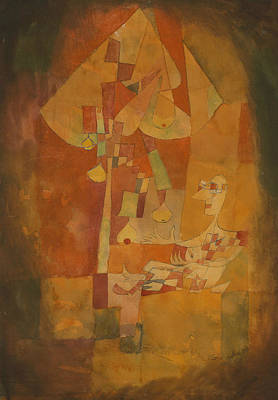 Painting - The Man Under The Pear Tree by Paul Klee