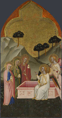 Sepulchre Digital Art - The Maries At The Sepulchre by Jacopo di Cione and workshop