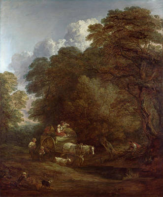 Countryside Painting - The Market Cart by Thomas Gainsborough