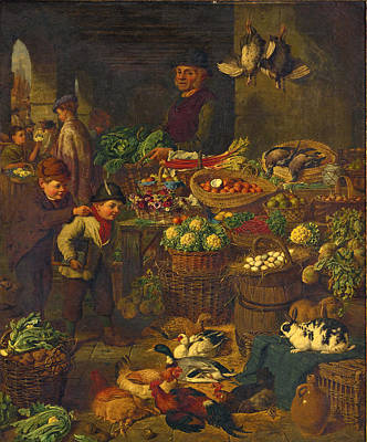 The Market Stall Art Print by Henry Charles Bryant