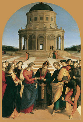Bride And Groom Painting - The Marriage Of The Virgin by Raphael
