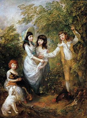 English Painting - The Marsham Children by Thomas Gainsborough