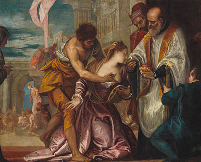 Saint Painting - The Martyrdom And Last Communion Of Saint Lucy by Paolo Veronese