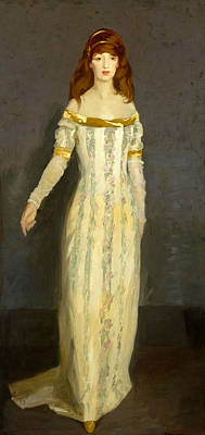 Painting - The Masquerade Dress by Robert Henri
