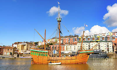 Photograph - The Matthew In Bristol Harbour by Colin Rayner