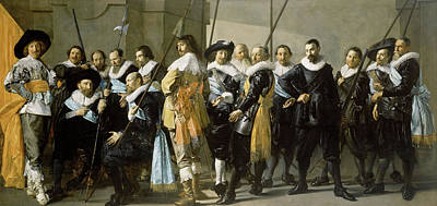 Baroque Painting - The Meagre Company by Frans Hals