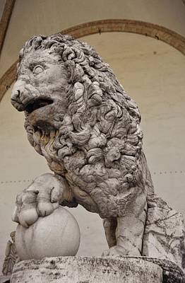 Photograph - The Medici Lions by JAMART Photography