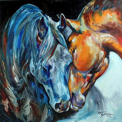 Painting - The Meeting  by Marcia Baldwin
