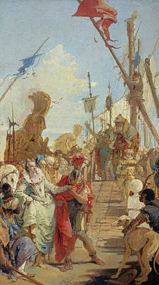 Painting - The Meeting Of Anthony And Cleopatra by Giovanni Battista Tiepolo