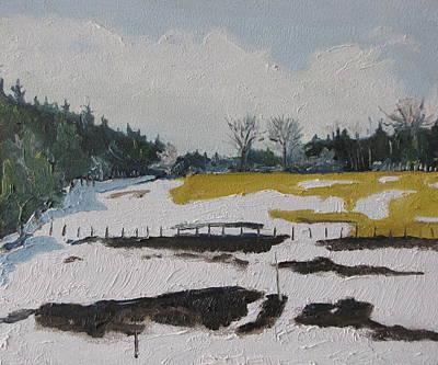 The Melting Snow Art Print by Francois Fournier