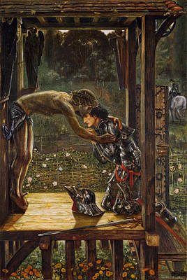 Painting - The Merciful Knight by Edward Burne-Jones