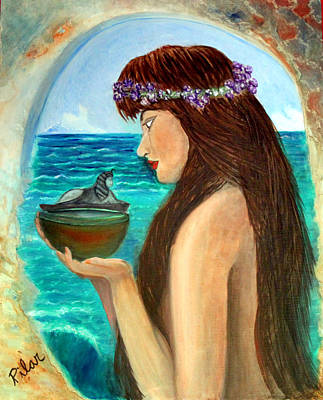 Painting - The Mermaid And The Pandora Box by Pilar  Martinez-Byrne