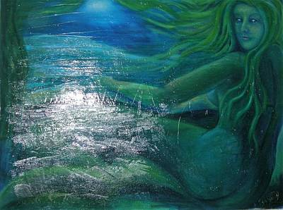 Painting - The Mermaid by Kristen R Kennedy