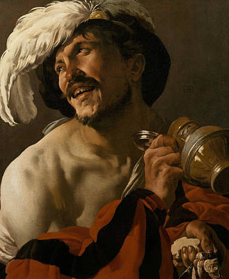 Painting - The Merry Drinker by Hendrick ter Brugghen