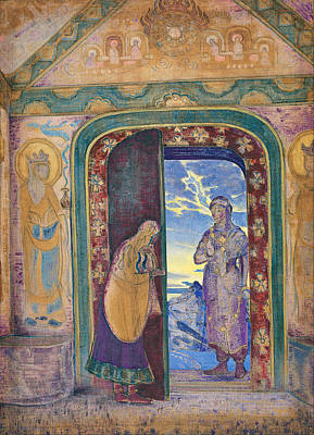 Suggestive Painting - The Messenger by Nicholas Roerich