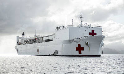 Liberty Painting - The Military Sealift Command Hospital Ship Usns Mercy by Celestial Images