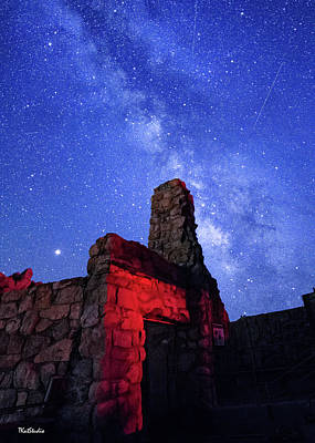 Photograph - The Milky Way Over The Crest House by Tim Kathka