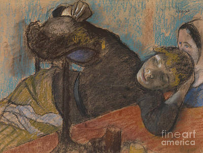 Pastel - The Milliner by Edgar Degas