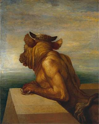 Minotaur Painting - The Minotaur by George Frederic