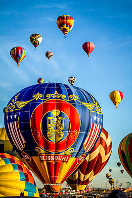 Photograph - Thundercloud - The Missouri Hot Air Balloon by Ron Pate