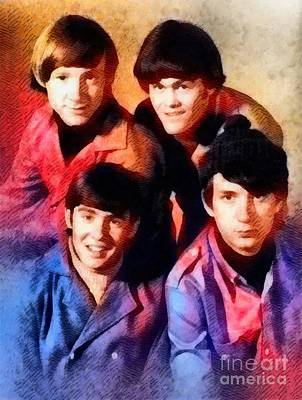 Music Paintings - The Monkees by Esoterica Art Agency