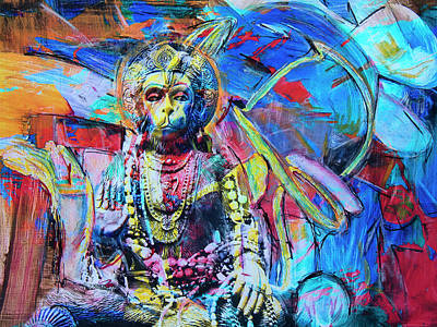 Mixed Media - The Monkey God by Dominic Piperata