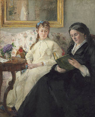 The Mother And Sister Of The Artist Art Print by Berthe Morisot