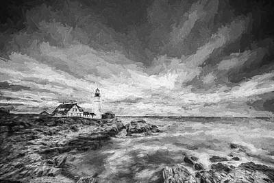Maine Landscapes Digital Art - The Motion Of Light by Jon Glaser