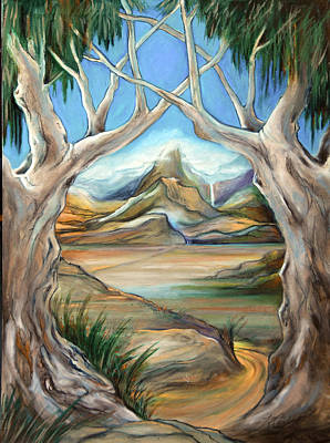 Magen David Painting - The Mountain Of Myrrh by Ron Cantrell